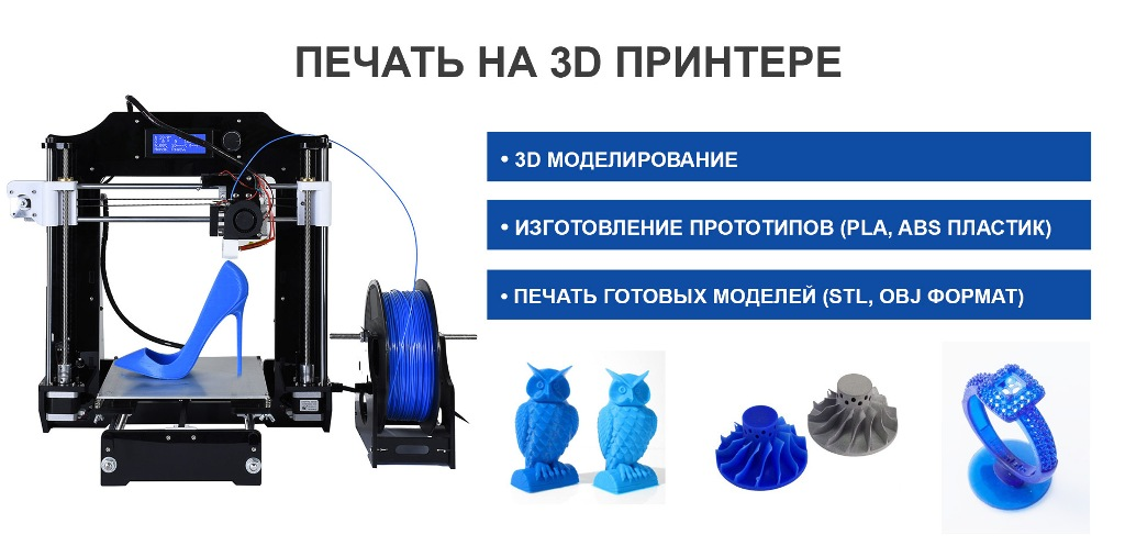 ПЕЧАТЬ НА 3D ПРИНТЕРЕ В АСТАНЕ