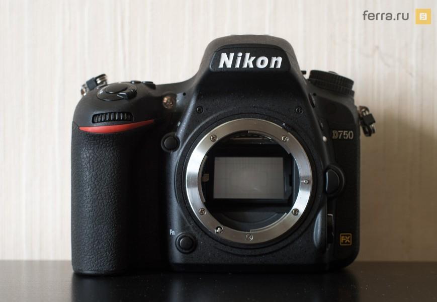 Лицевая сторона корпуса Nikon D750