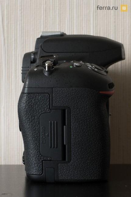 Правая сторона корпуса Nikon D750