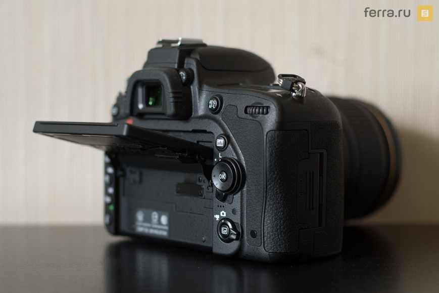 Конструкция наклонного экрана Nikon D750