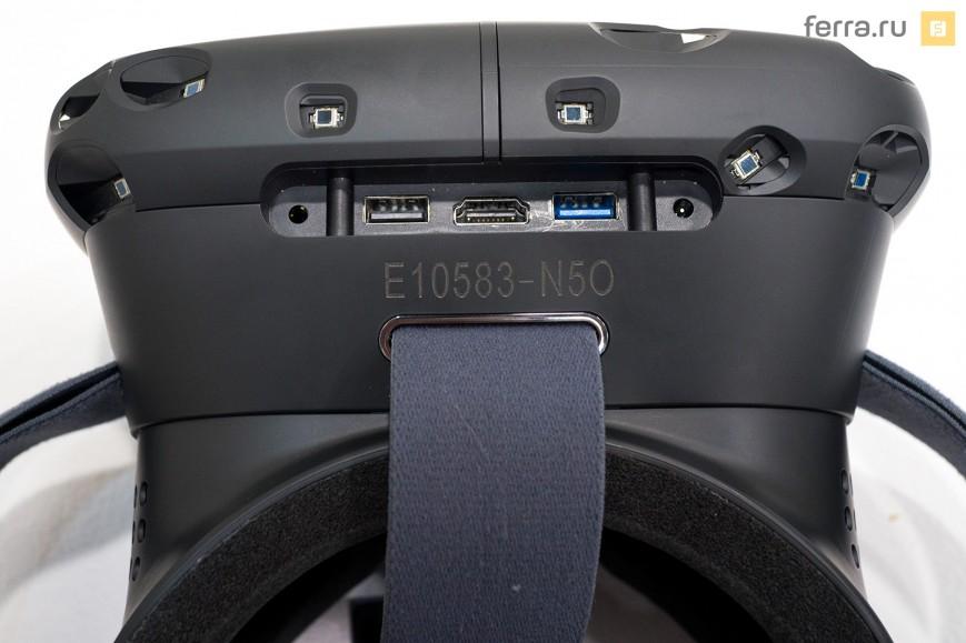 Порты и разъемы на корпусе HTC Vive