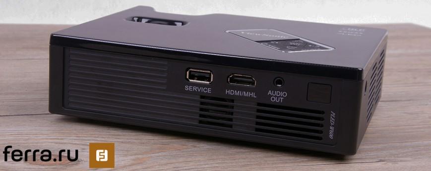 ViewSonic PLED-W600, вид сзади