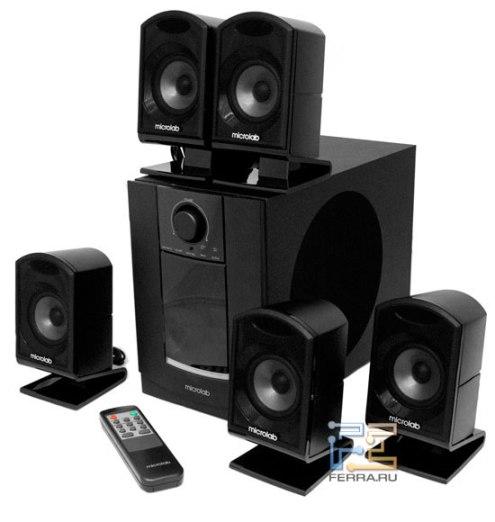 мультимедийная акустика M-860 внешни вид