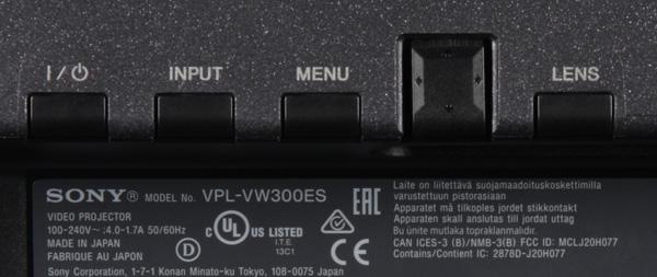 Проектор Sony VPL-VW300ES, кнопки управления