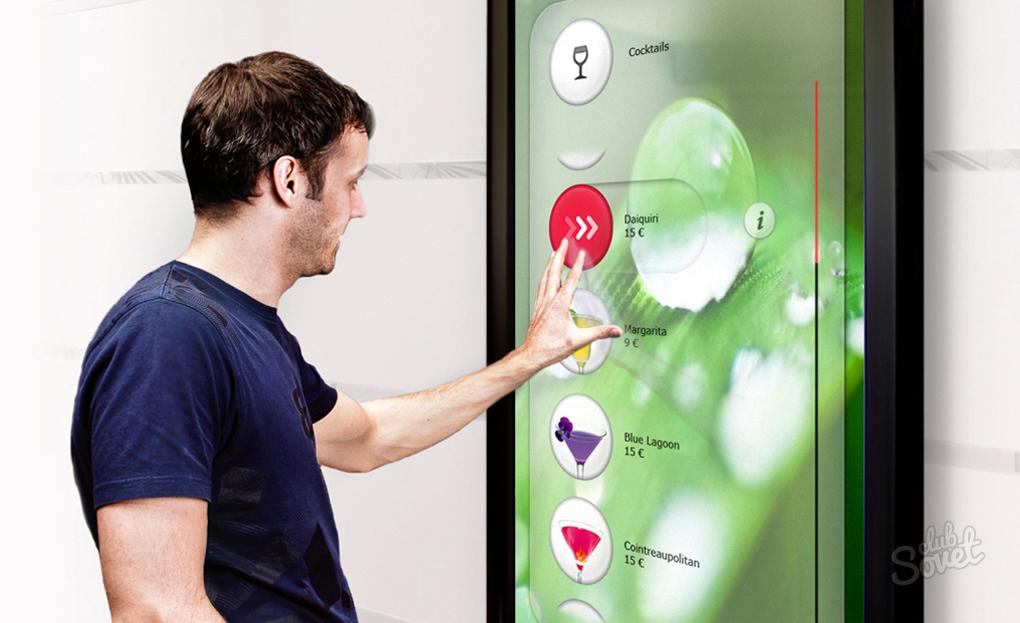 Интерактивная панель для рекламы